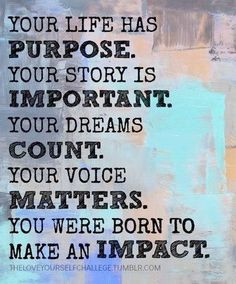 REconnect with your life's purpose More