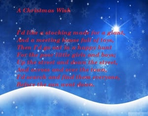 Famous Short Christmas Poems For Kids To Recite 2014