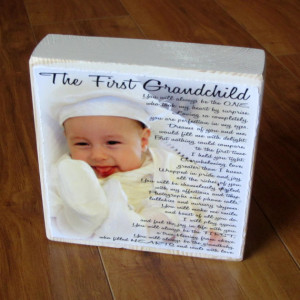 First Grandchild Poem for GRaNDPA- PERSoNALIZED Larger Photo Poem ...