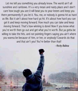 Awesome quote from Rocky Balboa