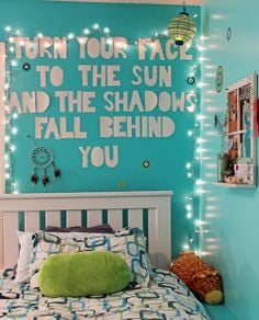teenager room wall quote bedroom quote quote lights -find a cute quote ...