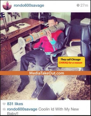 Lil Durk Affiliate From Chicago Posts Pic With A Bazooka On Instagram