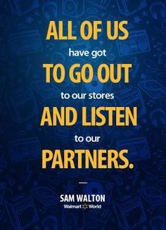 ... to go out and listen to our partners.