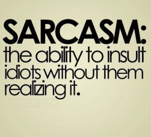 love being sarcastic