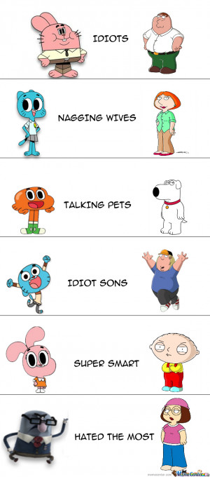 The Amazing World Of Gumball And Family Guy