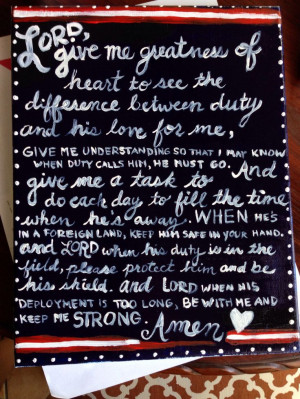 Army wife deployment prayer quote