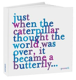 Caterpillar Quote Blue Bound Journal 8x8