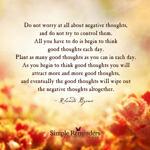 ... good thoughts by rhonda byrne plant good thoughts by rhonda byrne