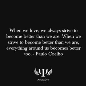 Paulo Coelho, quote, love quote