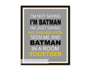 ... Superhero Quote Art Print - Boys Room - Superhero Nursery - Superhero