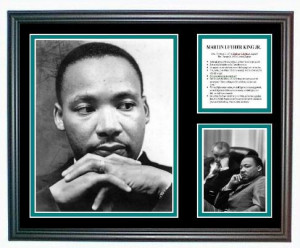 Martin Luther King Jr. photo tribute with quotes