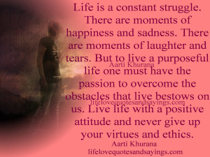 Life Struggles Quotes and Sayings