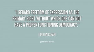 regard freedom of expression as the primary right without which one ...