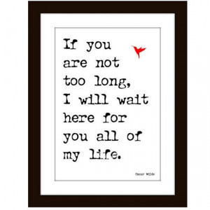 Romance Art Print Wall Decor Valentine Oscar Wilde Quote Digital ...