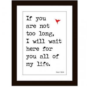 Romance Art Print Wall Decor Valentine Oscar Wilde Quote Digital ...