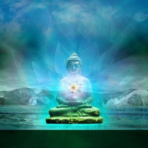 Buddha within Lotus Light