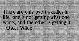 tragedies in lifeoscarwilde
