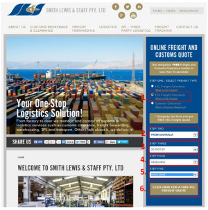 Steps 1 to 6: How to Use our FCL Freight Calculator