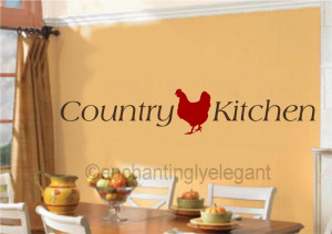 Details about Country Kitchen Vinyl Decal Wall Sticker Words Lettering ...