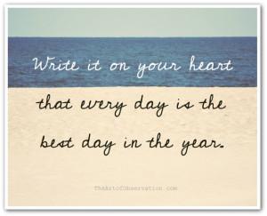 Inspirational Quote, best day, beach photo, Ralph Waldo Emerson ...