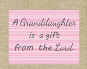 ... granddaughter print, baby girl wall art, Christian sayings, baby room