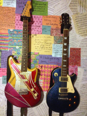 Hang those beautiful guitars or other appropriate instruments on your ...