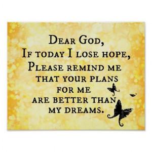Inspirational Christian Quote: Dear God Poster #inspirational # ...