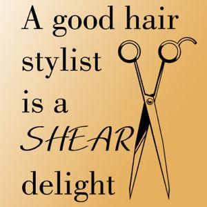 Hair Stylist Quotes http://www.ebay.com/itm/Good-hair-stylist-wall ...