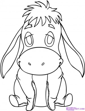 how to draw baby eeyore step 7