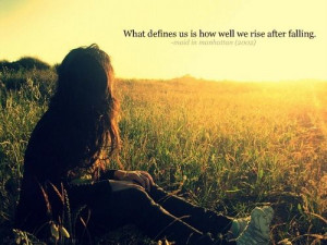 What defines us #quotes