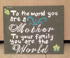 DIY painted canvas-Mother quote