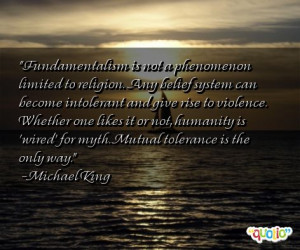 Fundamentalism is not a phenomenon limited to