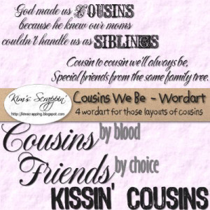 Family Quotes And Sayings Cousins