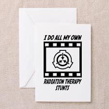 Radiation Therapy Stunts Greeting Card for
