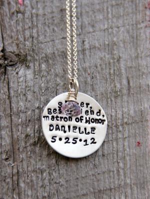 Maid Honor Gift Bridesmaid...