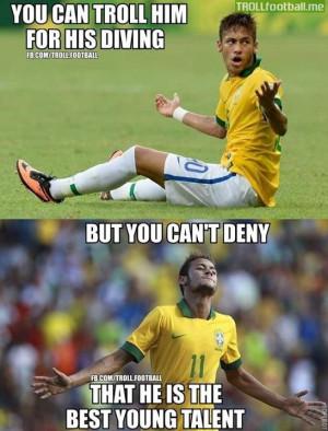 Neymar - 22 years old, 50 apps, 33 goals.