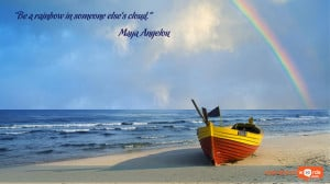 Inspirational Wallpaper Quote by Maya Angelou