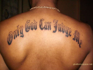 With so many thugs getting this tattoo, you'd think Jesus would at ...
