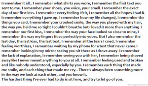 Love Quote : I remember it all.