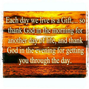 Be thankful always...