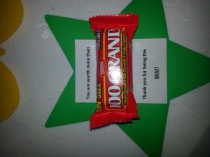 Employee Appreciation Sayings With Candy 100 grand candy gram