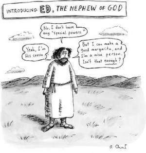 Ed, The Nephew of God cartoon by Roz Chast