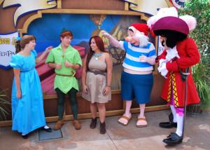 Meeting Wendy Darling Peter Pan Mr Smee and Captain Hook at Long