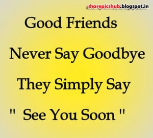 Friendship Quote Wallpaper | See You Soon Quote Images