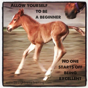 Allow yourself to be a beginner