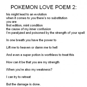 POKEMON LOVE POEM 2