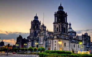 Beautiful cathedral architecture mexic city