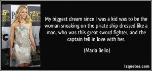 was a kid was to be the woman sneaking on the pirate ship dressed like ...
