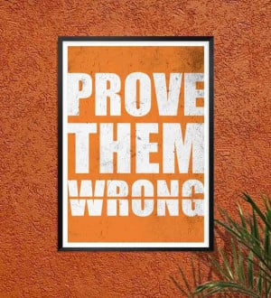 Labno4 Prove Them Wrong Gym Motivational Quotes Framed Poster