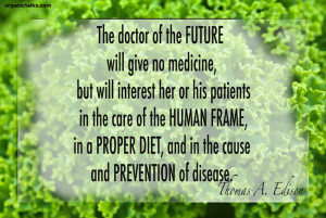 quote on how to prevent disease by thomas a. edison, heart disease ...